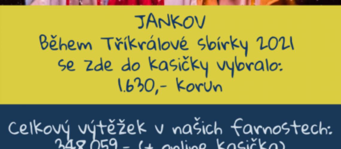 poděkování občanům Jankova